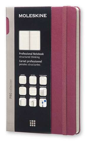 Moleskine Large Plum Purple Professional Hard Notebook