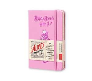 Moleskine Alice In Wonderland Limited Edition Pink Hard Ruled Pocket Notebook de  MOLESKINE S.P.A.