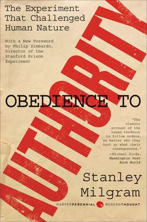 Obedience to Authority: An Experimental View de Stanley Milgram