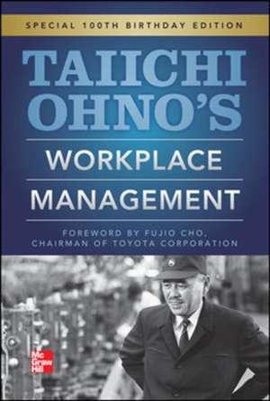 Taiichi Ohnos Workplace Management de Taiichi Ohno