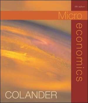 Microeconomics de David Colander
