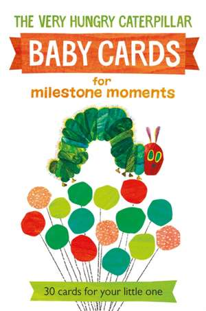 Very Hungry Caterpillar Baby Cards for Milestone Moments imagine