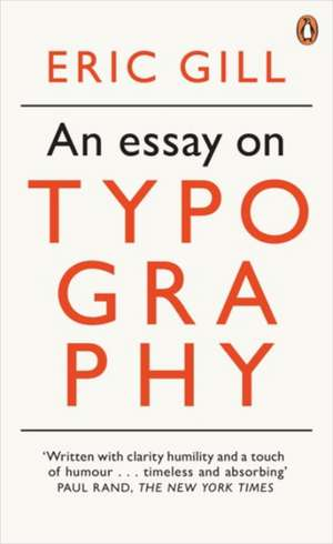 An Essay on Typography de Eric Gill