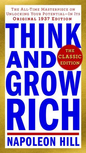 Think and Grow Rich de Napoleon Hill