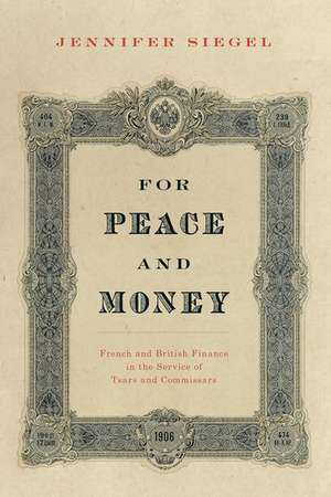 For Peace and Money