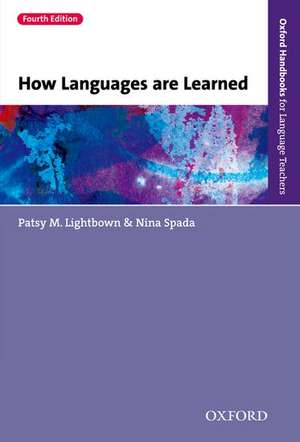 How Languages are Learned de Patsy Lightbown