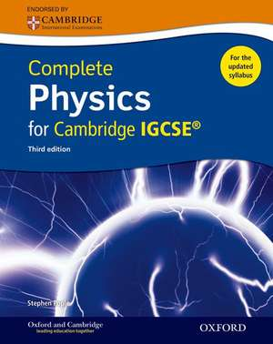 Complete Physics for Cambridge IGCSE ® Student book (Third edition) de Stephen Pople