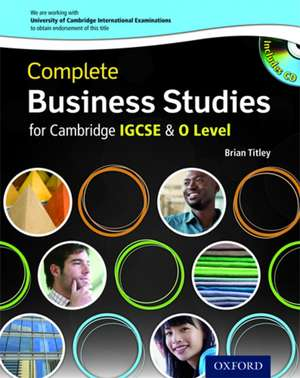 Complete Business Studies for Cambridge IGCSE® and O Level with CD-ROM