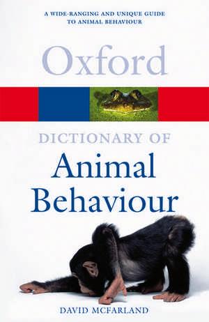 A Dictionary of Animal Behaviour de David McFarland