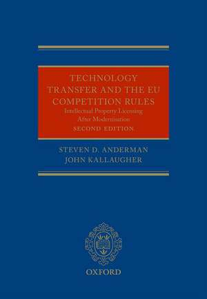 Technology Transfer and the EU Competition Rules de Steven Anderman