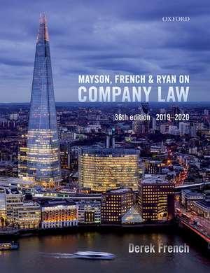 Mayson, French & Ryan on Company Law de Derek French