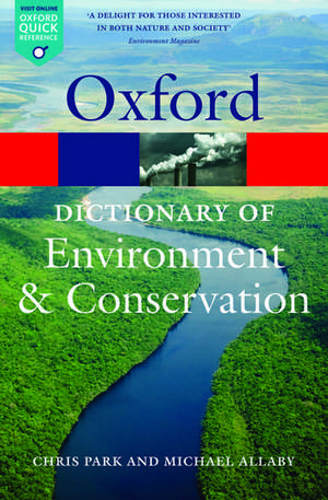 A Dictionary of Environment and Conservation de Michael Allaby