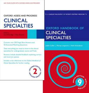 Oxford Handbook of Clinical Specialties 9e and Oxford Assess and Progress Clinical Specialties 2e Pack