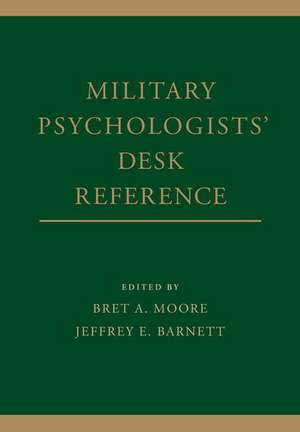 Military Psychologists' Desk Reference