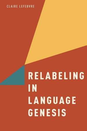 Relabeling in Language Genesis