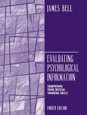 Evaluating Psychological Information de James Bell