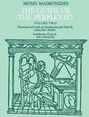 The Guide of the Perplexed V 2 de Maimonides