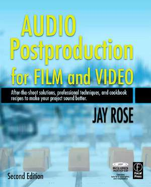 Audio Postproduction for Film and Video [With CD] imagine