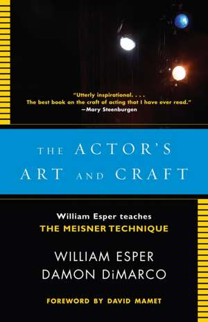 The Actor's Art and Craft imagine