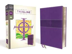 NRSV, Thinline Bible, Leathersoft, Purple, Comfort Print de Zondervan