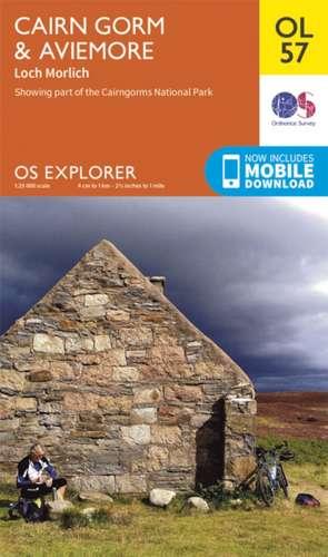 Cairn Gorm & Aviemore 1 : 25 000 de  Ordnance Survey