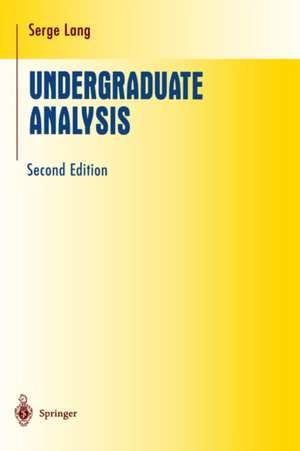 Undergraduate Analysis de Serge Lang