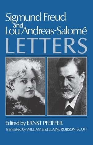 Sigmund Freud and Lou Andreas-Salome: Letters de Sigmund Freud