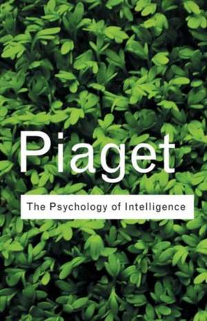 The Psychology of Intelligence de Jean Piaget