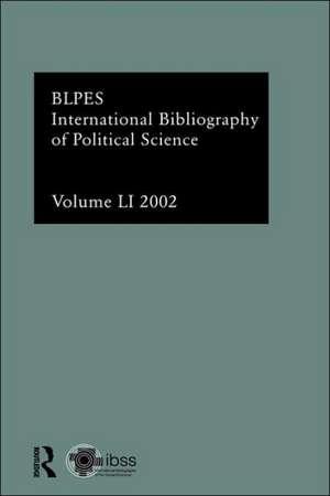 Ibss:  2002 Vol.51 de  British Library of Political & Economic