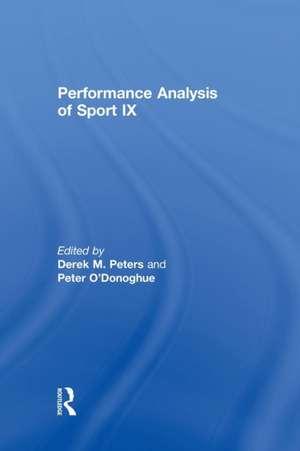 Performance Analysis of Sport IX de Derek Peters
