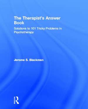 The Therapist S Answer Book