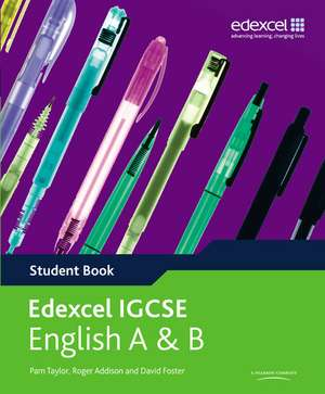 Edexcel International GCSE English A & B Student Book with ActiveBook CD de Pam Taylor