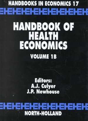 Handbook of Health Economics de A J. Culyer