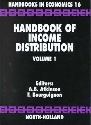 Handbook of Income Distribution de Anthony B. Atkinson