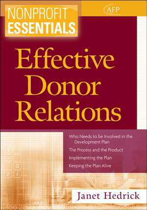 Effective Donor Relations imagine