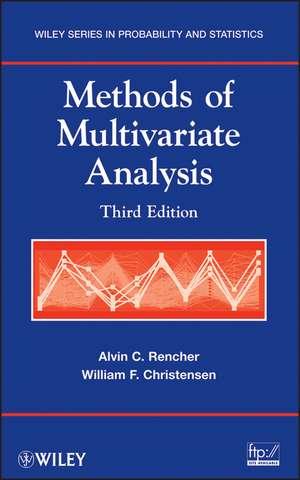 Methods of Multivariate Analysis de Alvin C. Rencher