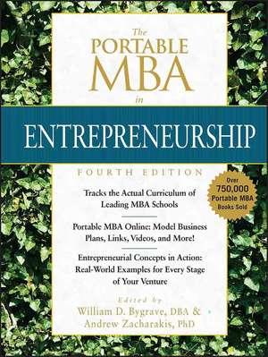 The Portable MBA in Entrepreneurship de William D. Bygrave