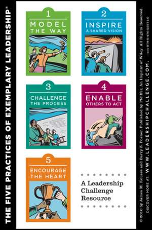 The Leadership Challenge Workshop Card, 4e: Side A – The Ten Commitments of Leadership; Side B – The Five Practices of Exemplary Leadership de James M. Kouzes