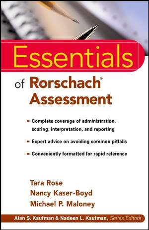 Essentials of Rorschach Assessment imagine