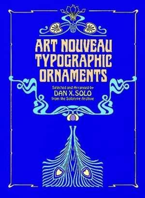 Art Nouveau Typographic Ornaments de Dan X Solo
