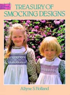 Treasury of Smocking Designs de Allyne S. Holland