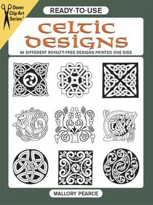 Ready-To-Use Celtic Designs:  96 Different Royalty-Free Designs Printed One Side de Mallory Pearce