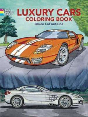 Luxury Cars Coloring Book imagine