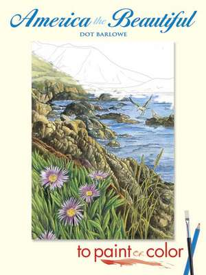 America the Beautiful to Paint or Color de Dot Barlowe