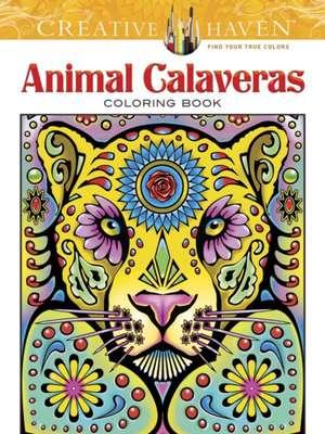 Creative Haven Animal Calaveras Coloring Book imagine