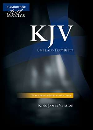 KJV Emerald Text Bible, Black French Morocco Leather, KJ533:T