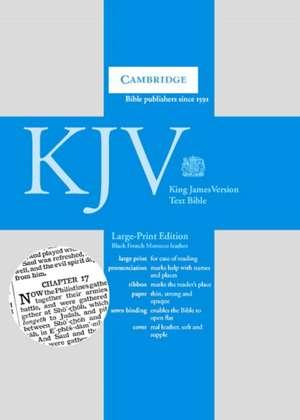 KJV Large Print Text Bible, Black French Morocco Leather, KJ653:T imagine