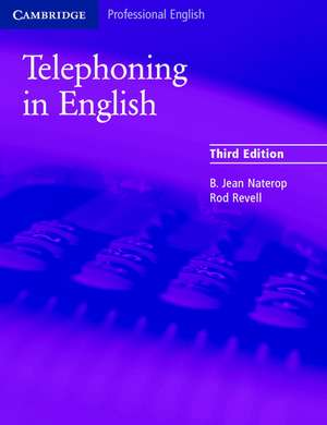 Telephoning in English Pupil's Book de B. Jean Naterop