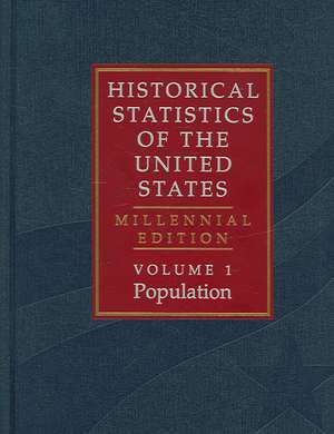 The Historical Statistics of the United States 5 Volume Hardback Set: Millennial Edition de Susan B. Carter