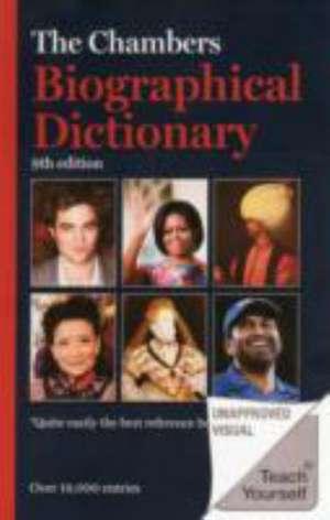 Chambers Biographical Dictionary imagine